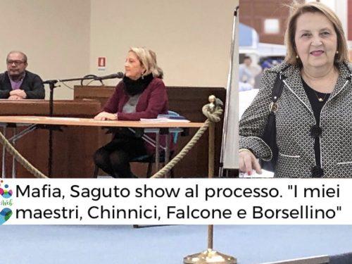 """Mafia, Saguto show al processo. """"I miei maestri, Chinnici, Falcone e Borsellino"""""""