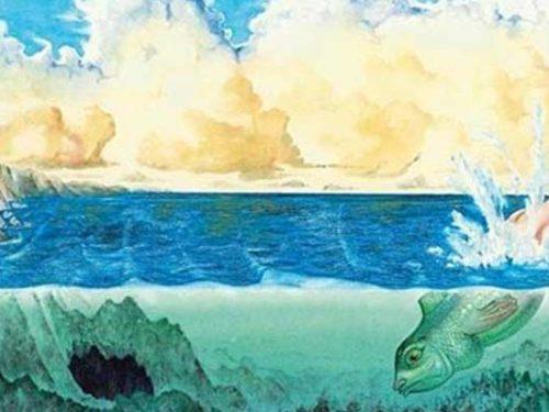 La leggenda di Colapesce: l'eroe metà uomo, metà pesce che regge le fondamenta della Sicilia.