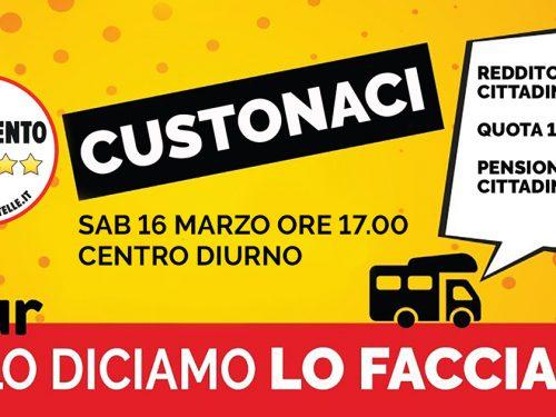 """Domani a Custonaci il tour informativo del M5S """"Se lo diciamo lo facciamo""""."""