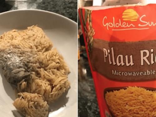 Compra un pacchetto di riso al supermercato e dentro ci trova un topo morto.
