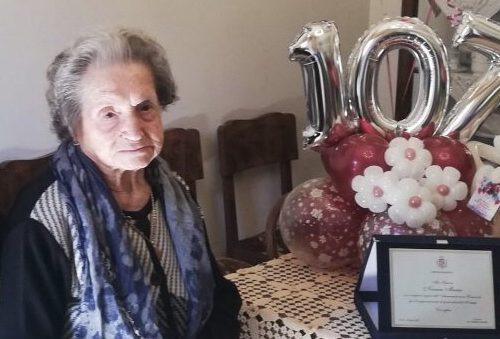 Paceco, nonna Maria Novara festeggia 107 anni.