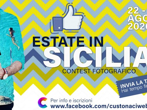 """CustonaciWeb lancia un nuovo contest: """"Estate in Sicilia"""" il contest più social dell'estate 2020"""
