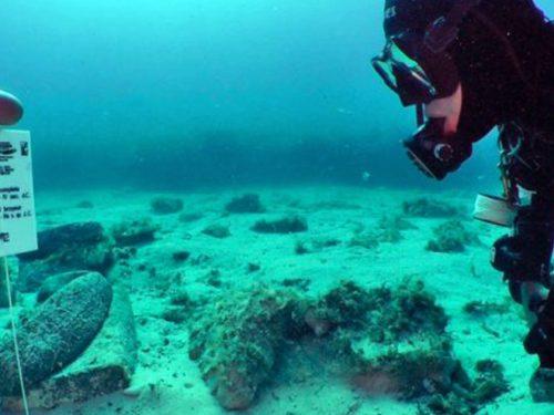 Nel fondale antistante il porto di San Vito Lo Capo i resti di una nave romana carica di macine in pietra