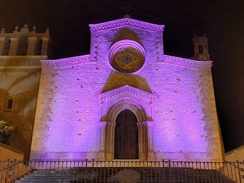 Il Santuario di Custonaci  si tinge di rosa  in favore della campagna per la lotta del tumore al seno.