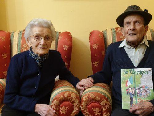 Un matrimonio da record: 101 anni lei, 100 lui. Attilio e Rosa festeggiano 79 anni di matrimonio