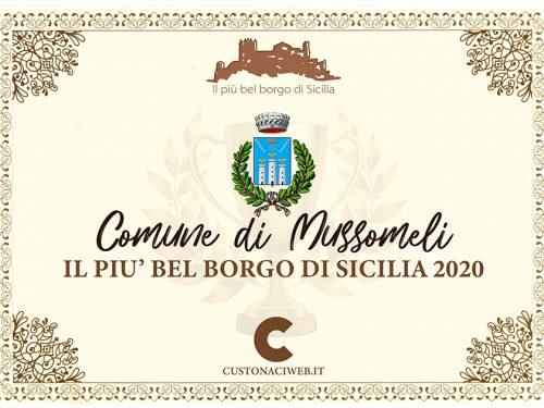 """Il Comune di Mussomeli vince il titolo di """"Il più bel borgo di Sicilia 2020"""""""