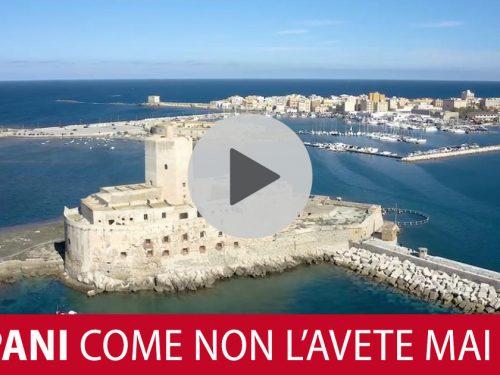 Trapani vista dall'alto. Il video di Fabrizio Santangelo che vi lascerà a bocca aperta!