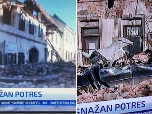 Terremoto di magnitudo 6.3 in Croazia; crollati  asilo e ospedale. Scossa più lieve anche a Verona