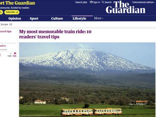"""Il """"The Guardian"""" ha inserito la tratta ferroviaria Catania-Riposto tra le 10 più belle del mondo"""