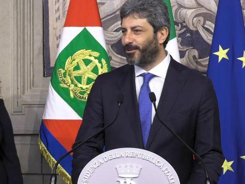 Matterella affida il mandato esplorativo al presidente della Camera Roberto Fico
