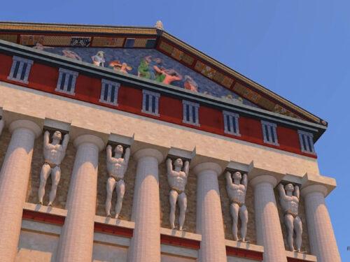 Al via i lavori per il recupero della trabeazione dell'Olympieion. Il tempio siciliano più imponente del Partenone