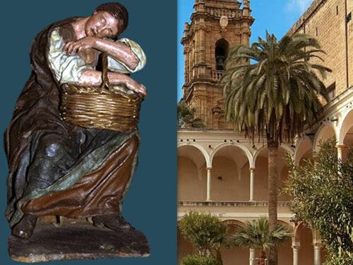 """La """"Venditrice di uova"""": la statuetta del Matera esposta all'interno del museo Pepoli di Trapani"""