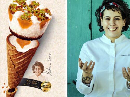 Nasce il cono gelato al cannolo siciliano,  l'idea è della giovane chef Martina Caruso